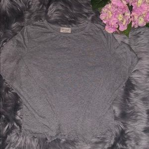 Slinky longsleeve tee with scalloped edges, M